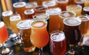 Craft Beer Tasting Flight.
