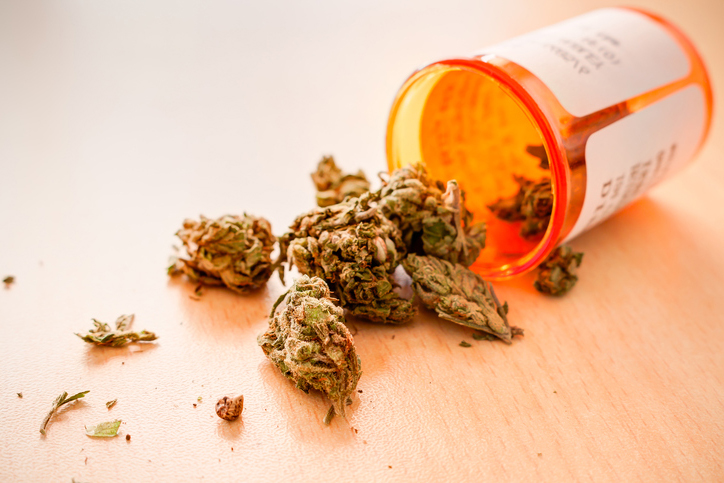 medical marijuana in a prescription bottle